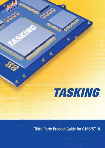 Third Party Product Guide for C166/ST10 - Tasking