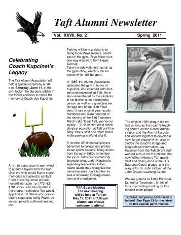 Taft Alumni Newsletter - Taft Alumni Association
