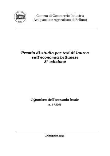 Premio di studio per tesi di laurea sull'economia ... - Unioncamere