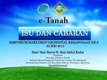 A Review On e-Tanah - Malaysia Geoportal