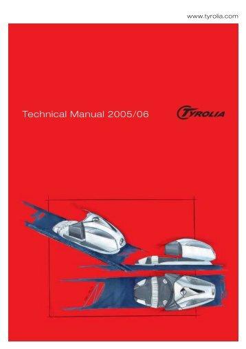 Technical Manual 2005/06 - Tyrolia
