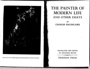 The Painter of Modern Life - Columbia University