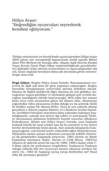 Hülya Avşar - Mithat Alam Film Merkezi