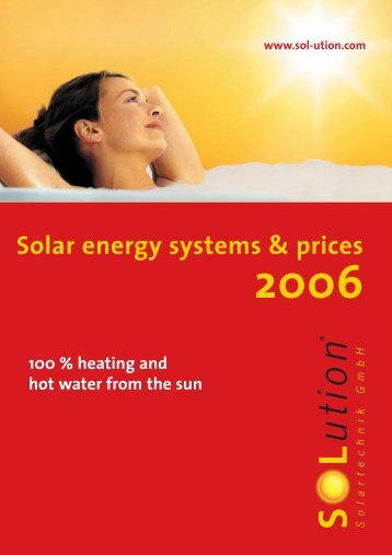 Solar energy systems & prices - Solution Solartechnik GmbH