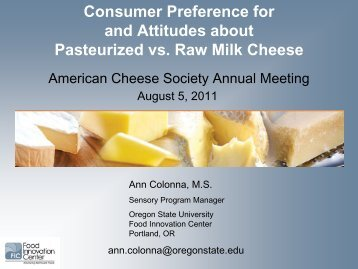 raw milk - American Cheese Society