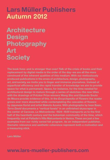 New T itle Architecture - Lars Müller Publishers