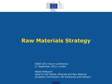 Raw Materials Strategy - WEEE Forum
