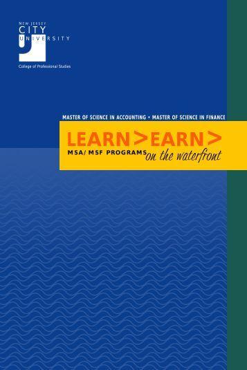 LEARN>EARN> - New Jersey City University