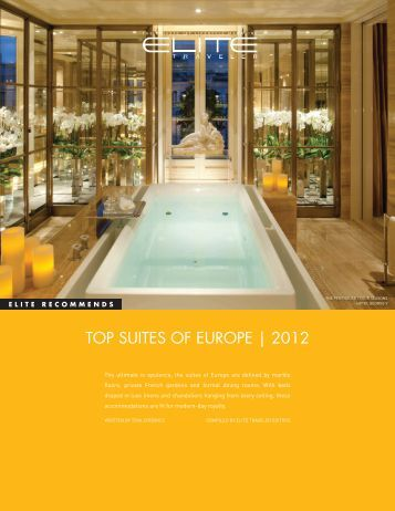 TOP SUITES OF EUROPE | 2012 - Elite Traveler