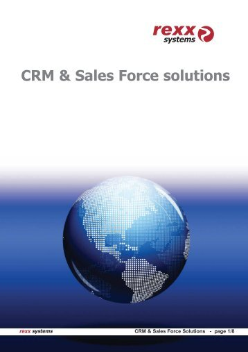 CRM & Sales Force solutions - rexx systems