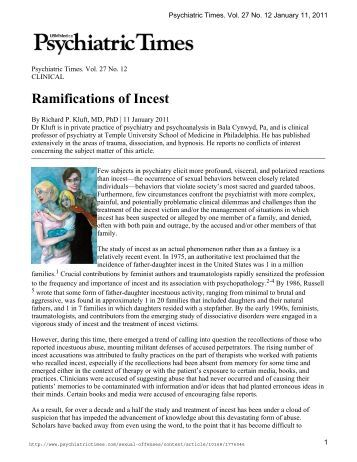 Ramifications of Incest