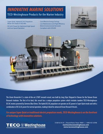 Marine Industry - TECO-Westinghouse Motor Company