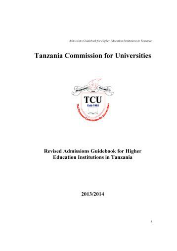 Tanzania Commission for Universities - University of Dar es salaam