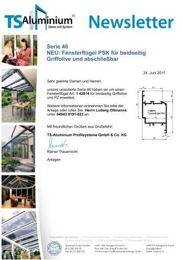 neues f gelschloss f r die serie 16 ts aluminium profilsysteme. Black Bedroom Furniture Sets. Home Design Ideas
