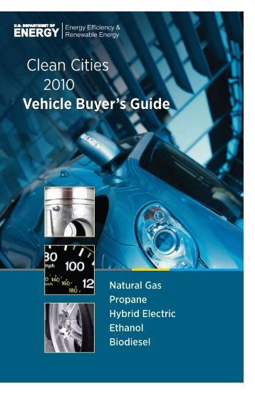 Vehicle Buyer's Guide - Alternative Fuels Data Center - U.S. ...