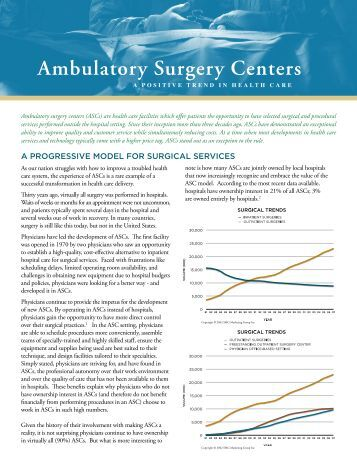 a study on the technology trends in ambulatory care clinics 2 preface this report, prepared by the center for health workforce studies (the center), provides a summary of labor projections for the period 2010 through 2020 for health care settings and.