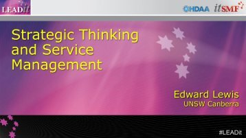 Strategic Thinking and Service Management