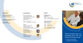 Klinik für Unfallchirurgie und Orthopädie, Hand-, Fuß - Kreiskliniken ...