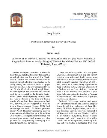 Essay Review Symbiosis: Shermer on Sulloway and Wallace By ...
