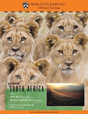 South AfricA - alumni.princeton.edu - Princeton University