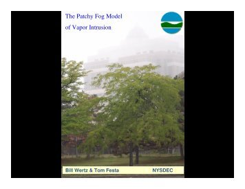 The Patchy Fog Model of Vapor Intrusion