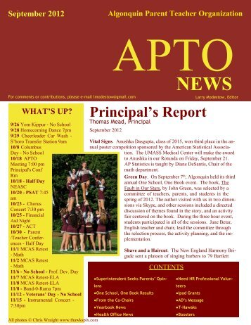 September 2012 - Public Schools of Northborough and Southborough