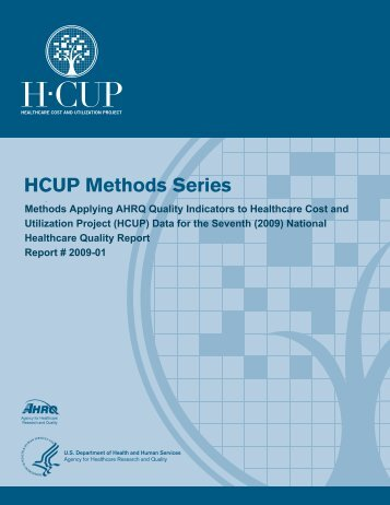 Methods Applying AHRQ Quality Indicators to HCUP Data for the ...