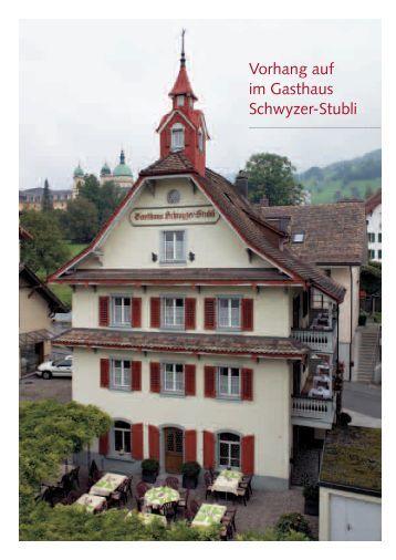 Vorhang auf im Gasthaus Schwyzer-Stubli - Maserati Club Schweiz