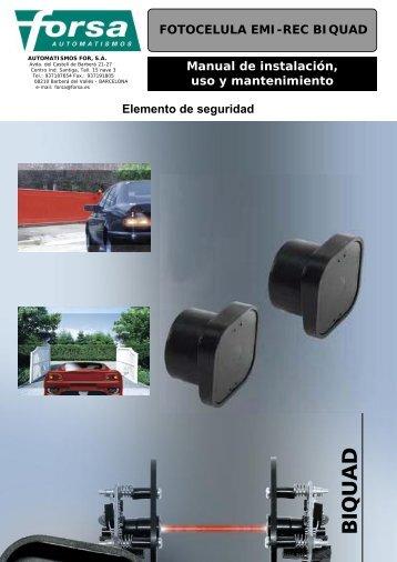 Manual de instalación, uso y mantenimiento FOTOCELULA EMI ...