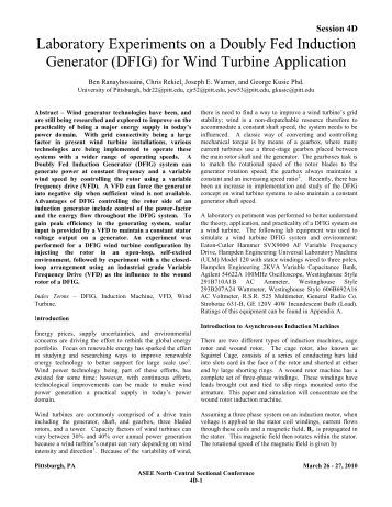 doubly fed induction generator modeling and control 29092011 doubly fed induction machine: modeling and control for wind energy generation  direct control of the doubly fed induction machine.
