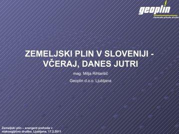 Zemeljski plin v Sloveniji