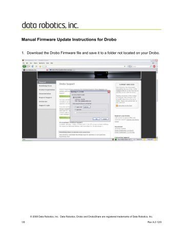 Manual Firmware Update Instructions for Drobo