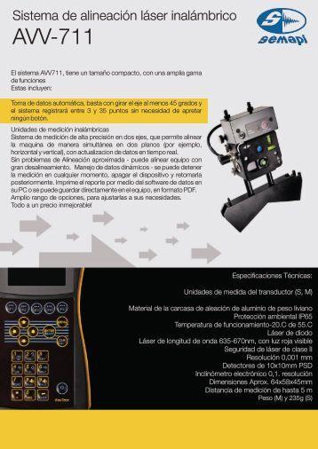 AVV-711 Especificaciones tecnicas - Logismarket