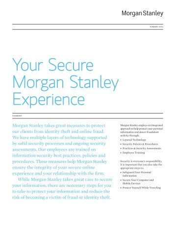 Online Bill Pay Terms And Conditions Morgan Stanley Smith Barney