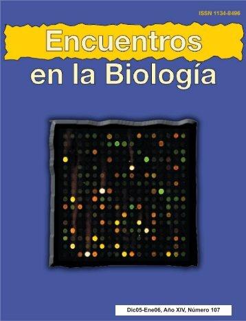 Dic05-Ene06, Año XIV, Número 107 - Encuentros en la Biología ...