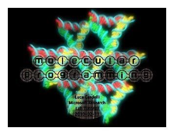 Molecular Programming - Tutorial - Luca Cardelli
