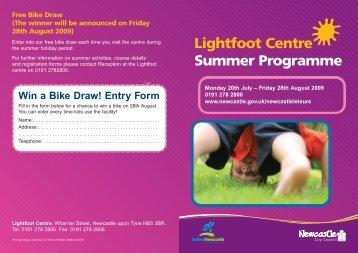 Lightfoot Centre Summer Programme - Newcastle City Council