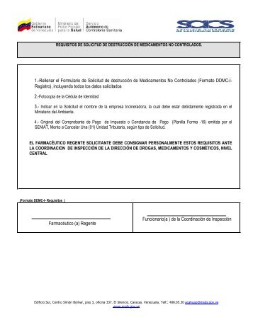 Destrucción de Medicamentos No Controlados - Servicio Autónomo ...