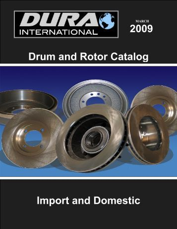 Drum & Rotor Catalog - Connolly Sales & Marketing