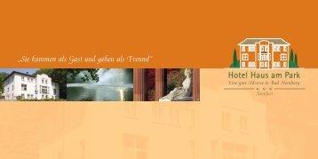 Our Brochure - Hotel Haus am Park