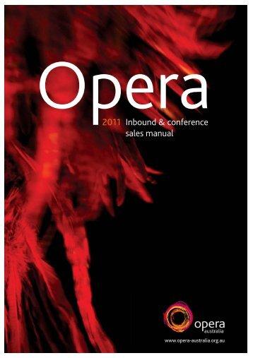 2011 Inbound & conference sales manual - Opera Australia