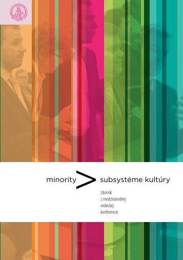 Minority v subsytéme kultúry