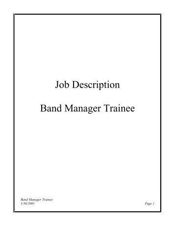 management trainee job description pdf