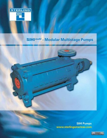 SIHImulti - MODULAR MULTISTAGE PUMPS - Condit Company