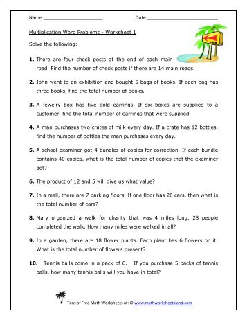 Multiply decimals worksheet word problems