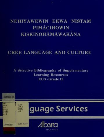 cree culture and language relationship