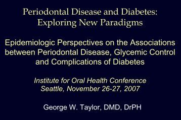 PPT - Institute for Oral Health