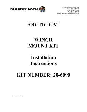 Arctic Cat Plow Mount Instructions