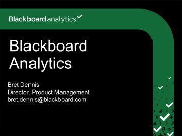 Blackboard Analytics for Learn - WCET