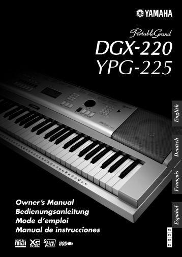 Die dtxpress schnellanleitung liste der yamaha for Yamaha dgx 630 ypg 635
